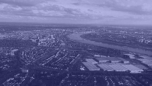 Düsseldorf from an airplanes window